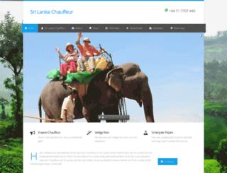 srilankachauffeur.nl screenshot