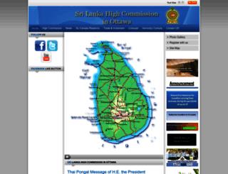 srilankahcottawa.org screenshot