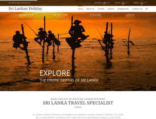 srilankanholiday.com screenshot