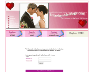 srilankanmarriage.com screenshot