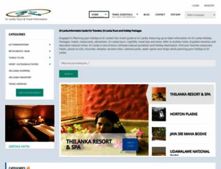 srilankatours.info screenshot