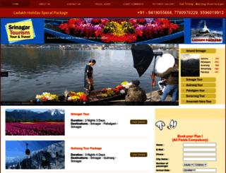 srinagartourism.com screenshot