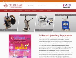 srirounakjewelleryequipments.com screenshot