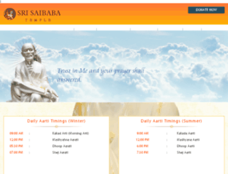 srisaibabatemple.org screenshot