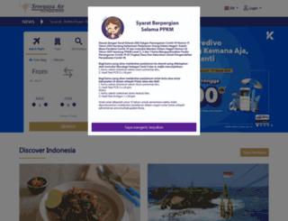 sriwijayaair.co.id screenshot