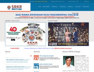 srkrec.ac.in screenshot