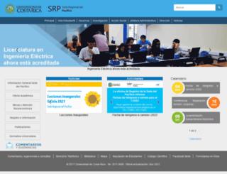 srp.ucr.ac.cr screenshot