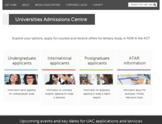 srs.uac.edu.au screenshot