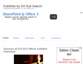 srtsubsearch.com screenshot