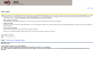 ssb.avc.edu screenshot