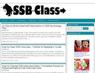 ssbclass.in screenshot