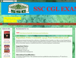 ssc-cgl.in screenshot