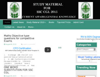 ssc-cglstudymaterial.in screenshot