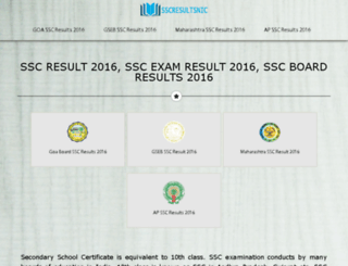 ssc-results.com screenshot