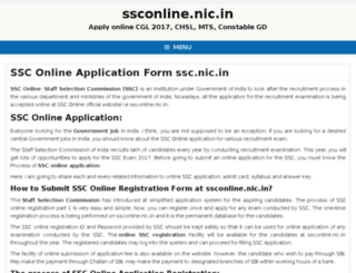ssc.onlinee-nic.in screenshot