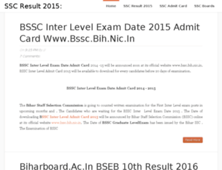 ssc2015result.in screenshot