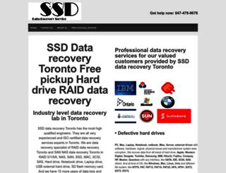 ssd-datarecoverytoronto.ca screenshot