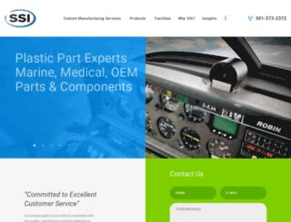 ssicustomplastics.com screenshot