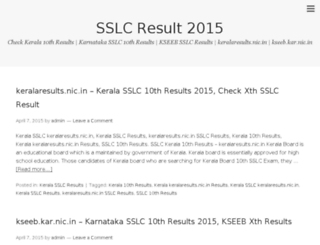 sslc-result.in screenshot