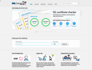 sslchecker.com screenshot