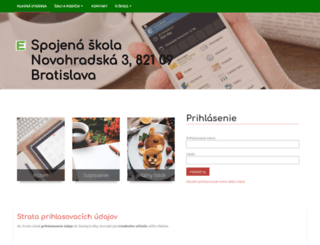 ssnovohradska.edupage.org screenshot