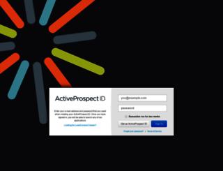 sso.activeprospect.com screenshot