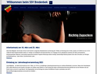 ssv-bredenbek.de screenshot