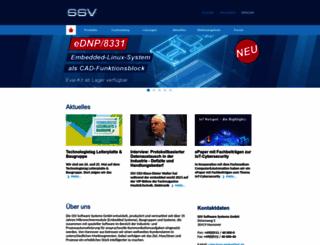 ssv-embedded.de screenshot