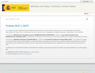 ssweb.map.es screenshot