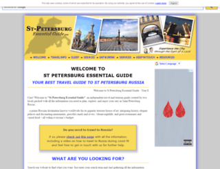 st-petersburg-essentialguide.com screenshot