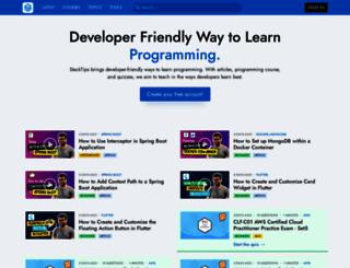 stacktips.com screenshot