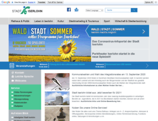 stadt-iserlohn.info screenshot