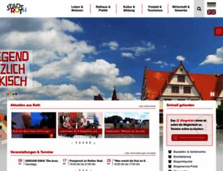 stadt-roth.de screenshot
