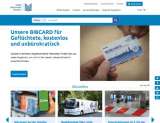 stadtbibliothek-bremen.de screenshot