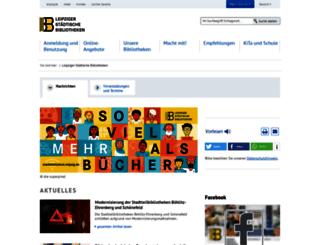 stadtbibliothek.leipzig.de screenshot