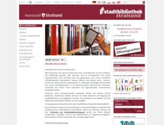 stadtbibliothek.stralsund.de screenshot