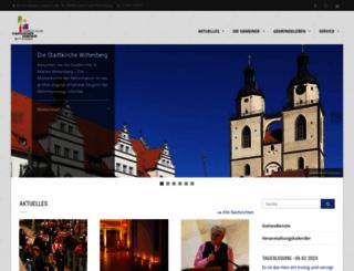 stadtkirchengemeinde-wittenberg.de screenshot