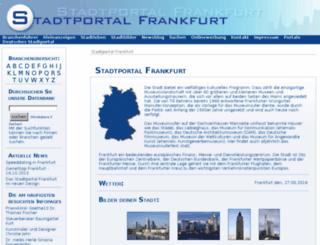 stadtportal-frankfurt.de screenshot