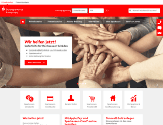 stadtsparkasse-remscheid.de screenshot