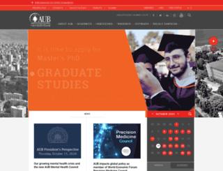 staff.aub.edu.lb screenshot