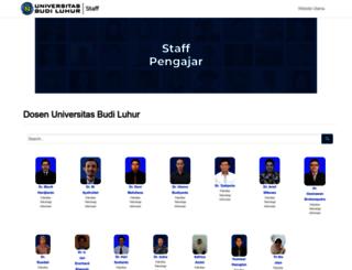 staff.budiluhur.ac.id screenshot