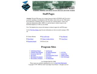 staff.esuhsd.org screenshot