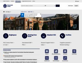 staff.leiden.edu screenshot