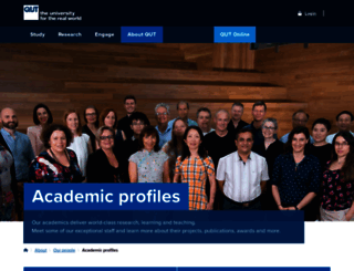 staff.qut.edu.au screenshot