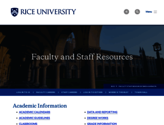 staff.rice.edu screenshot