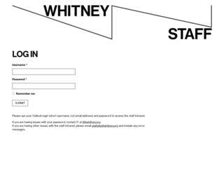 staff.whitney.org screenshot