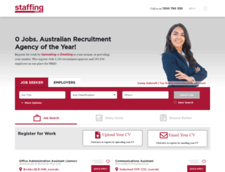 staffing.com.au screenshot