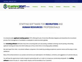 staffingsoft.com screenshot