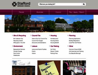staffordbc.gov.uk screenshot