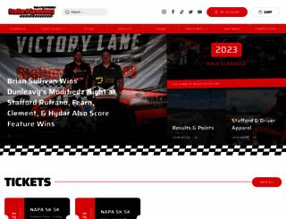 staffordmotorspeedway.com screenshot